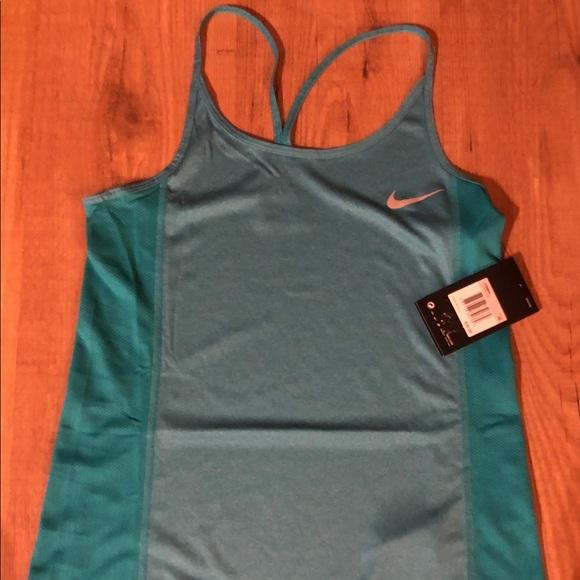 9e01206beb3 Nike Dri Fit Miler Racerback Tank Top Teal